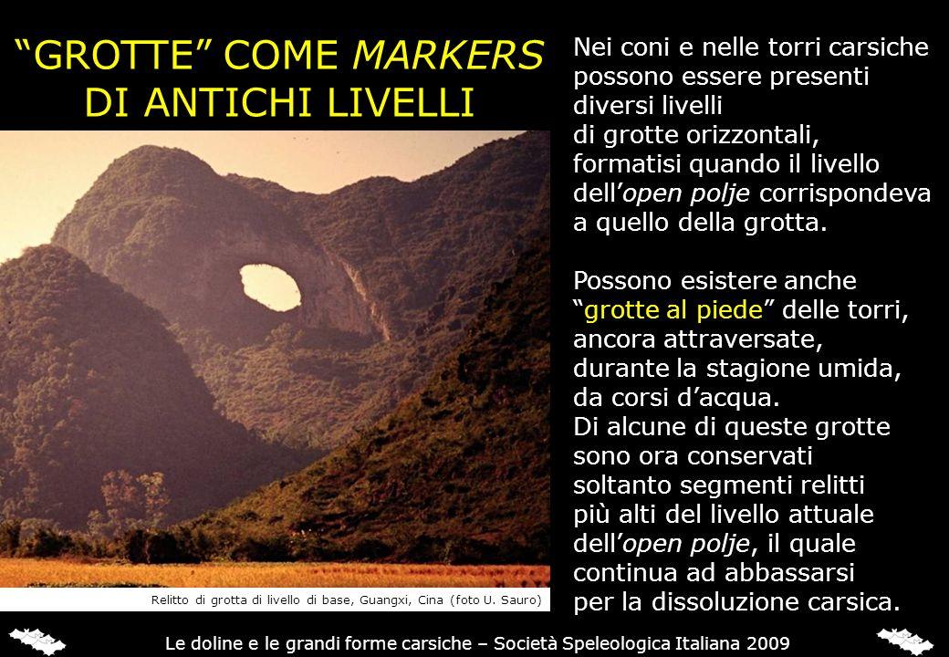 GROTTE COME MARKERS DI ANTICHI LIVELLI