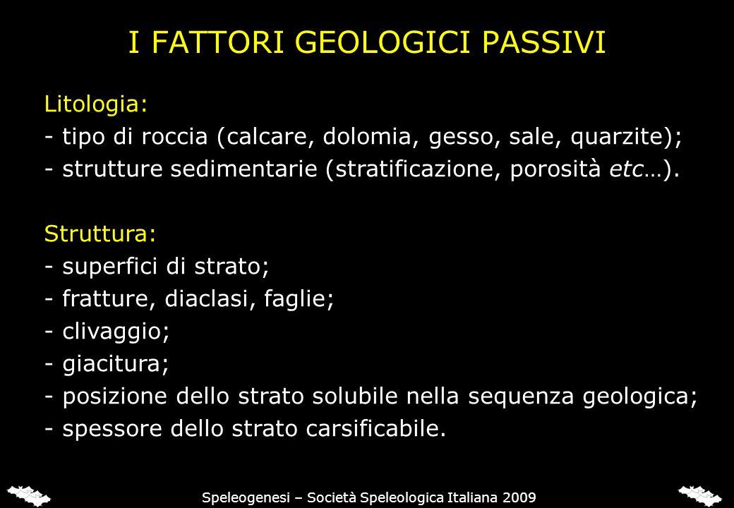 I FATTORI GEOLOGICI ATTIVI