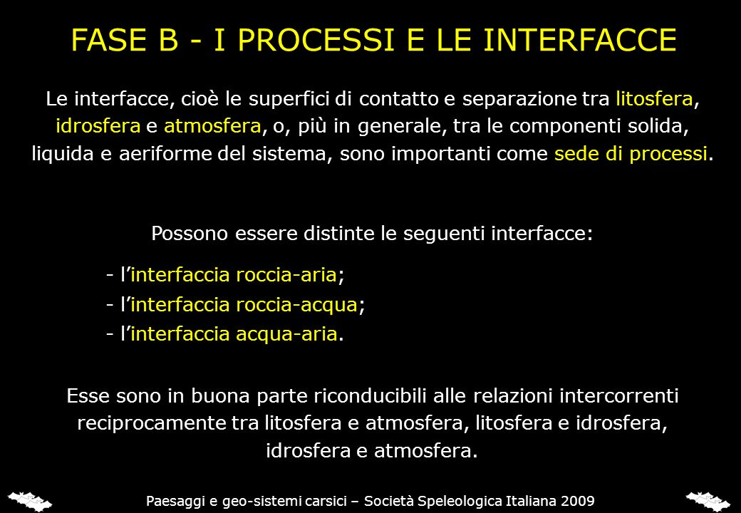 FASE B - I PROCESSI E LE INTERFACCE