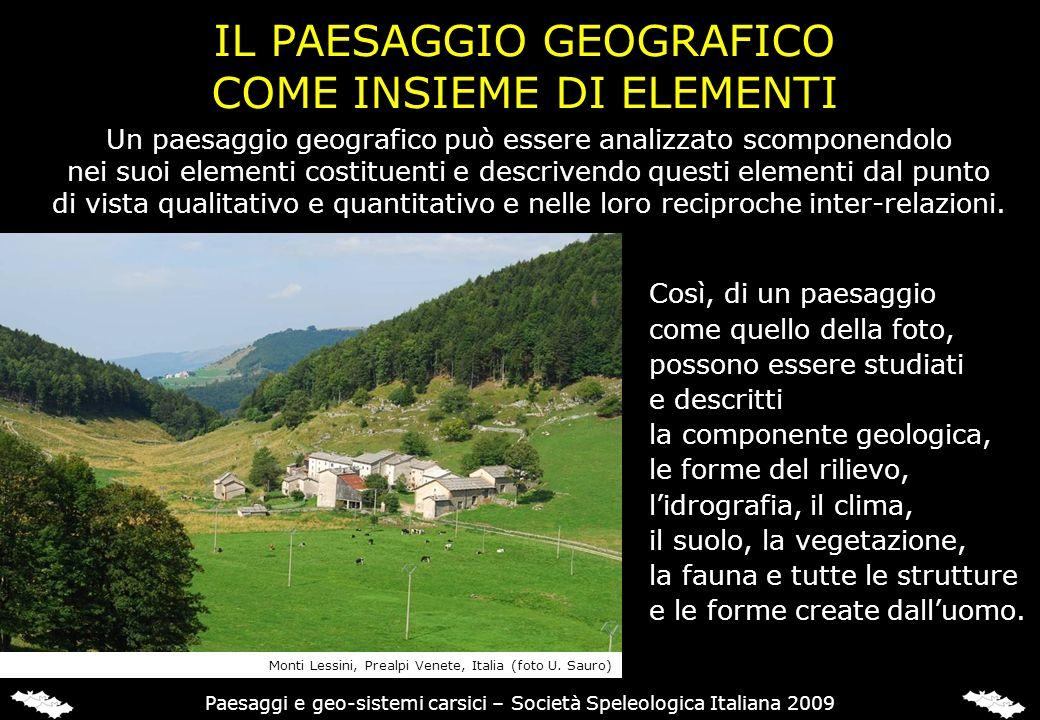 IL PAESAGGIO GEOGRAFICO COME INSIEME DI ELEMENTI