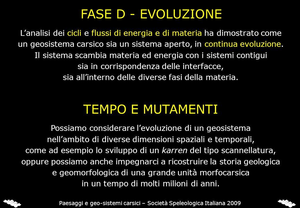 FASE D - EVOLUZIONE TEMPO E MUTAMENTI
