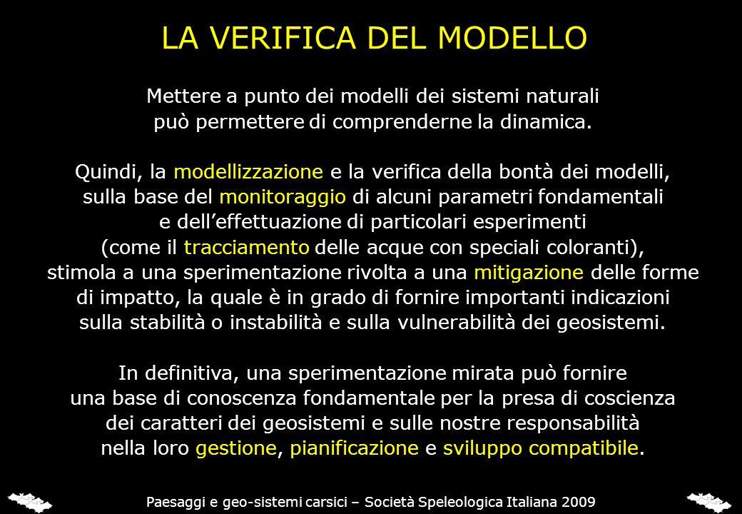 LA VERIFICA DEL MODELLO
