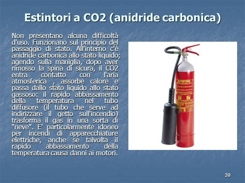 Estintori a CO2 (anidride carbonica)