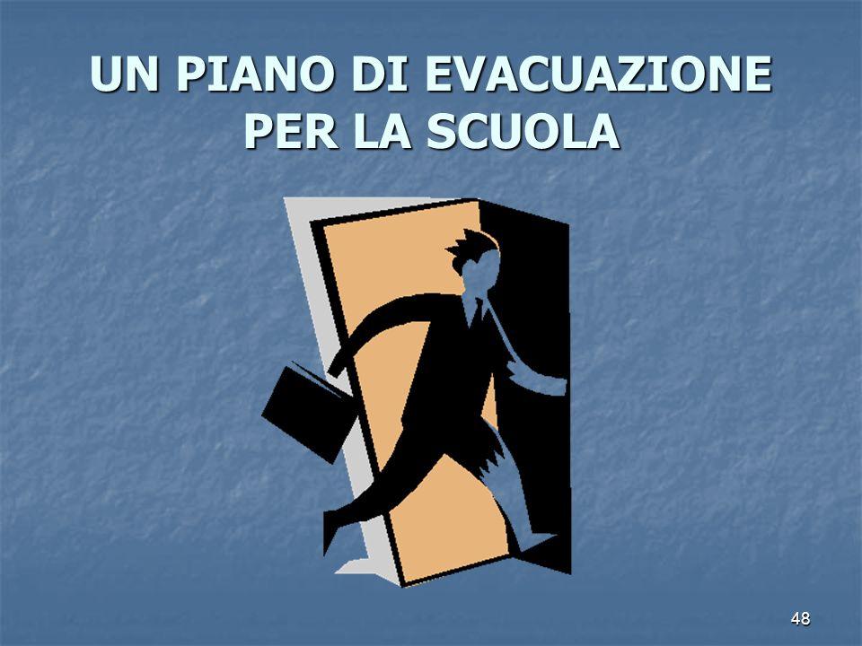 UN PIANO DI EVACUAZIONE PER LA SCUOLA