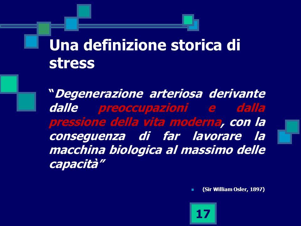 Una definizione storica di stress
