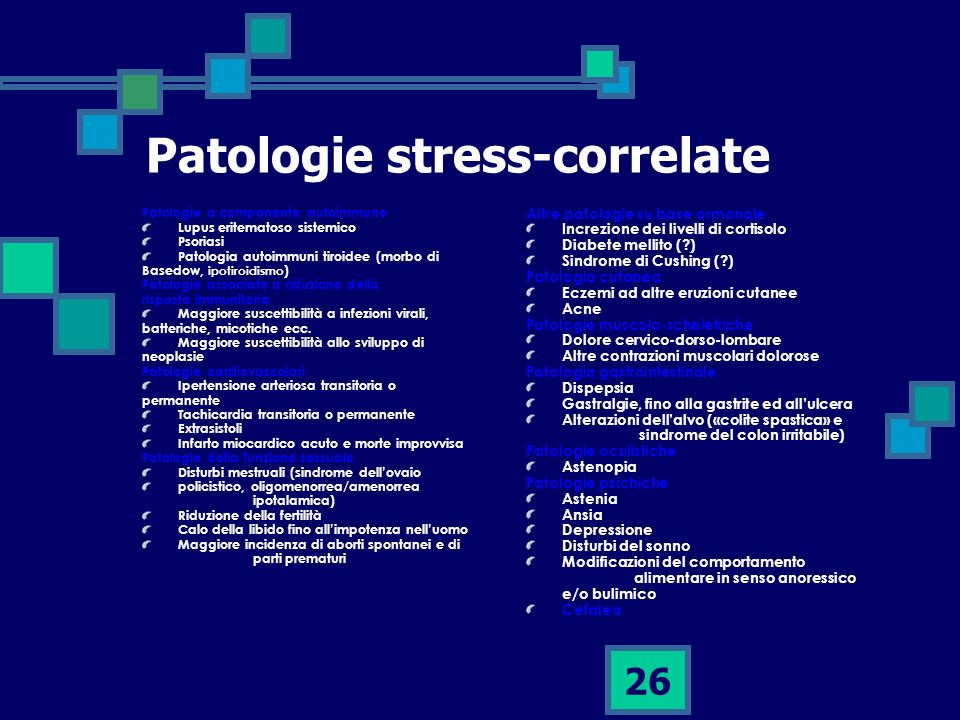 Patologie stress-correlate