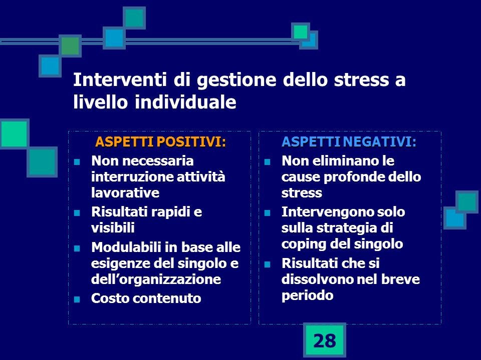 Interventi di gestione dello stress a livello individuale