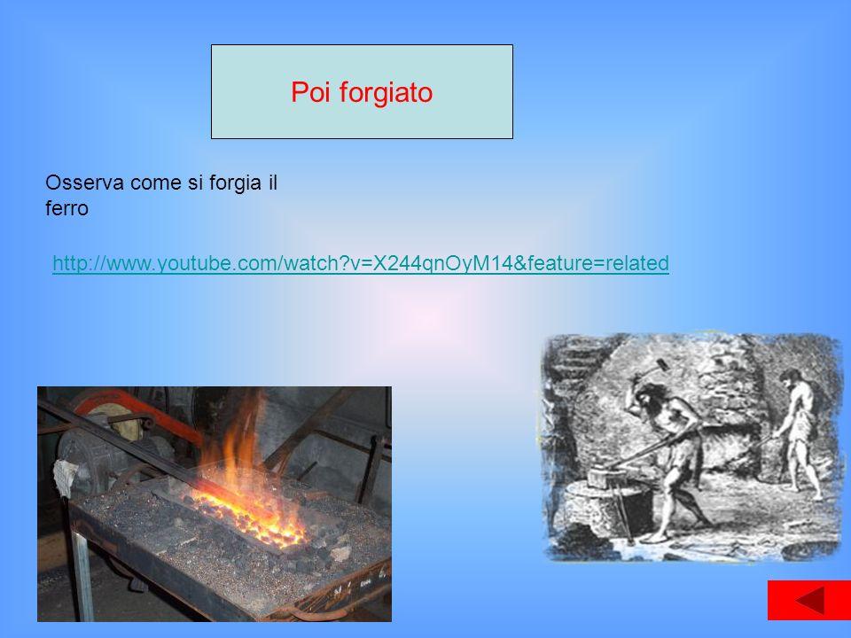 Poi forgiato Osserva come si forgia il ferro