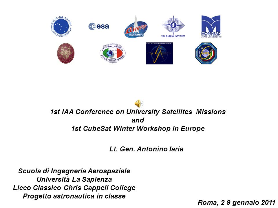 1st IAA Conference on University Satellites Missions and