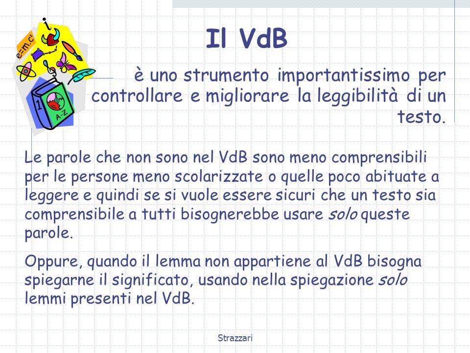 Il VdBè uno strumento importantissimo per controllare e migliorare la leggibilità di un testo.