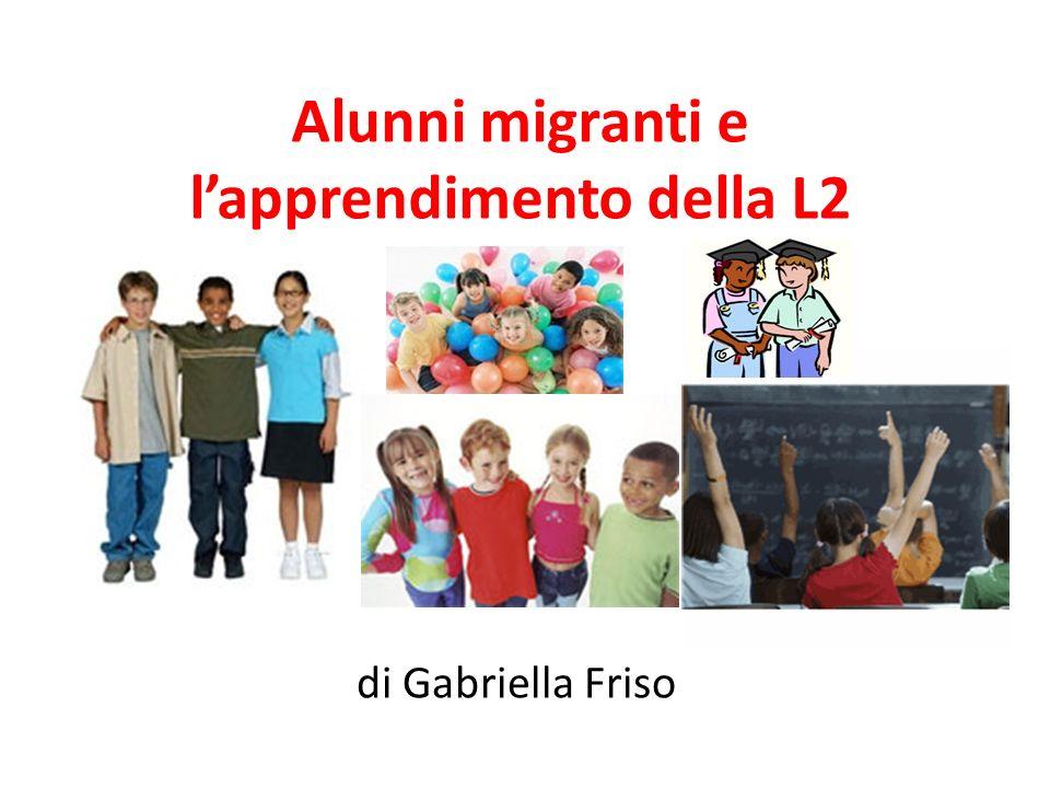 Alunni migranti e l'apprendimento della L2