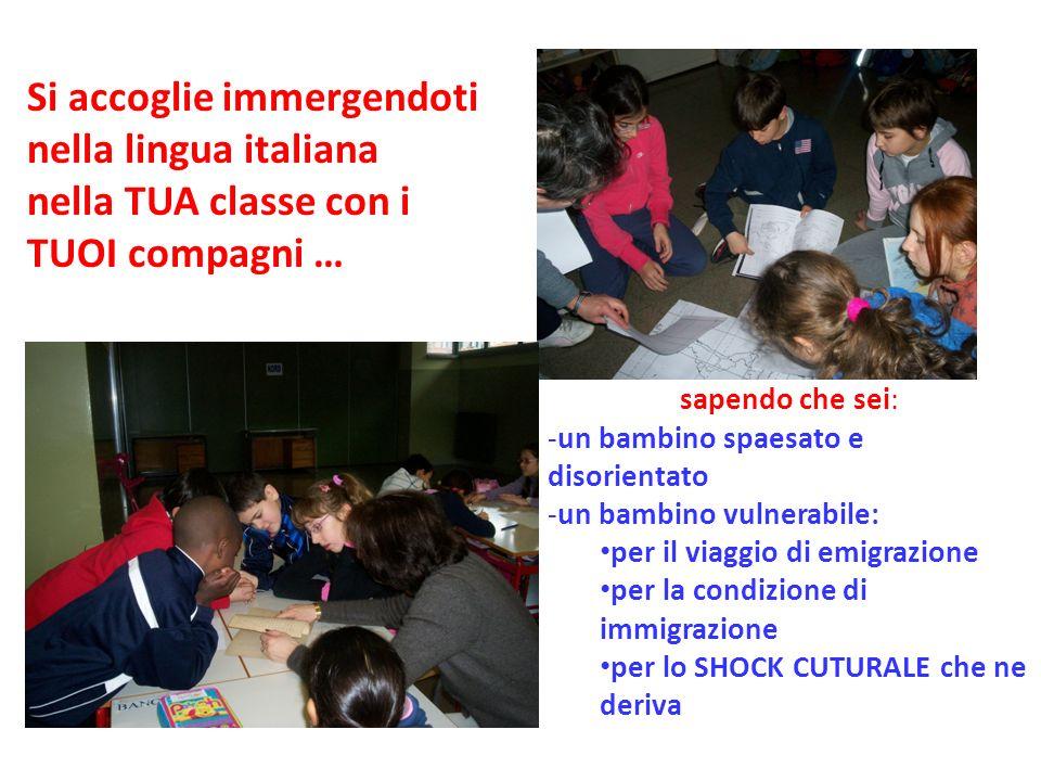 Si accoglie immergendoti nella lingua italiana