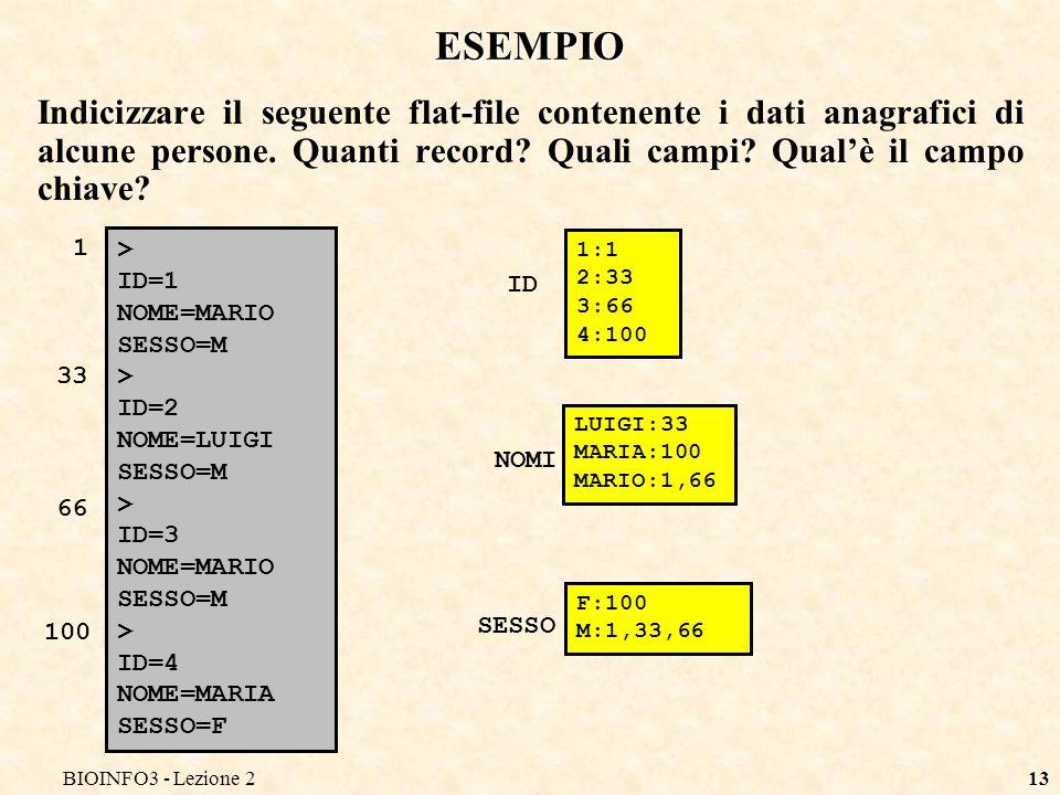 BIOINFO3 - Lezione2 ESEMPIO.