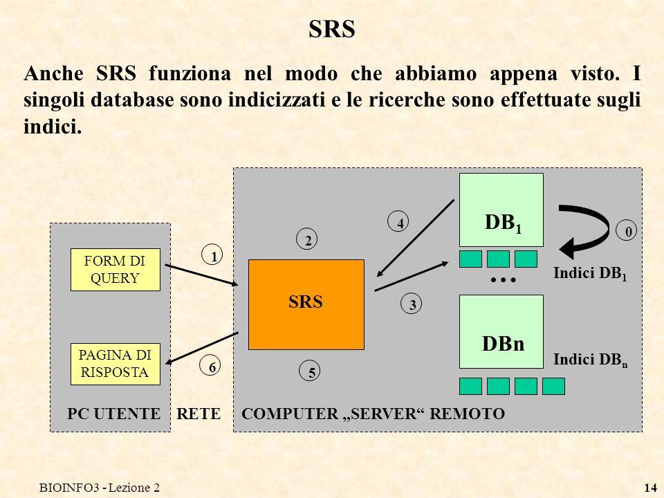 BIOINFO3 - Lezione2 SRS.
