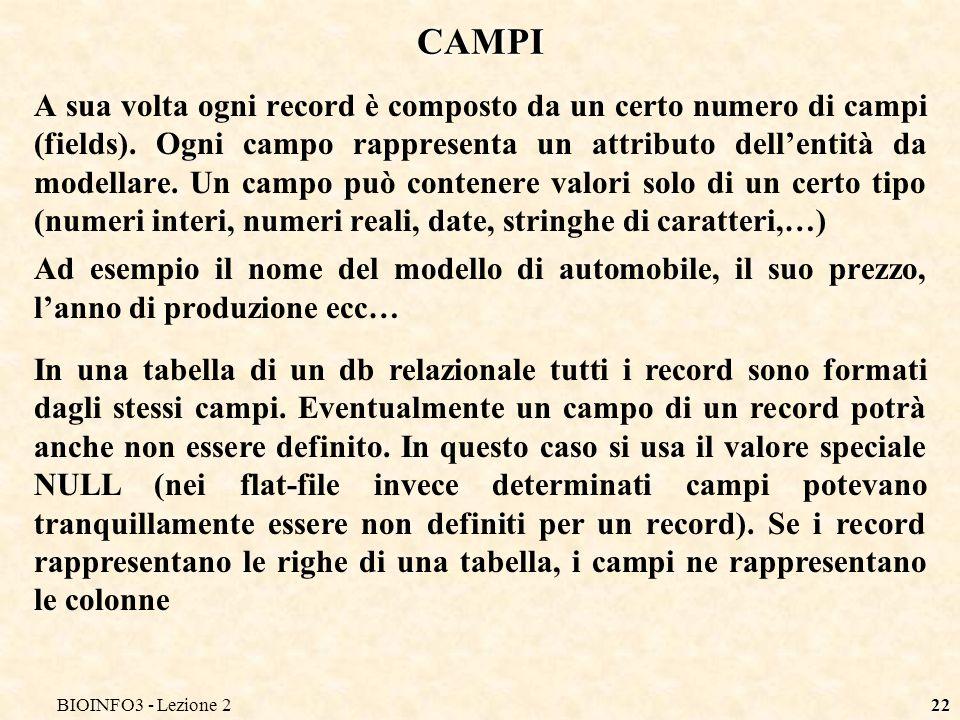 BIOINFO3 - Lezione2 CAMPI.