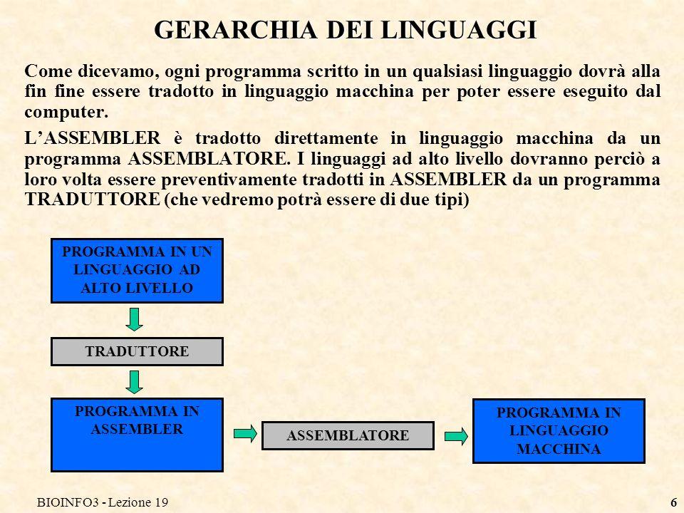 GERARCHIA DEI LINGUAGGI