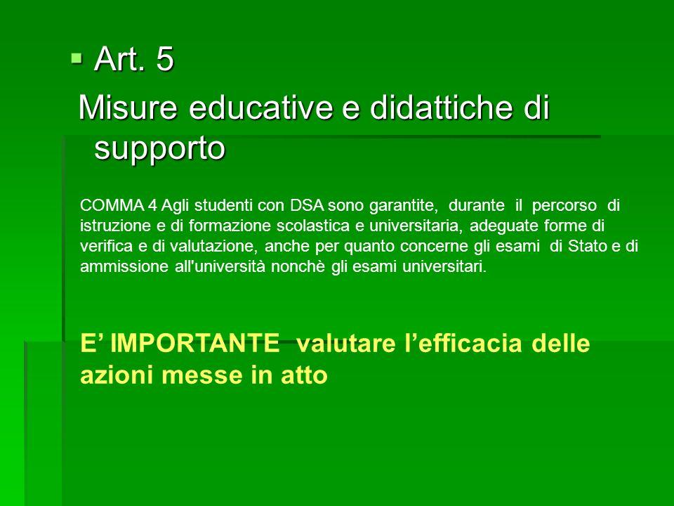 Misure educative e didattiche di supporto