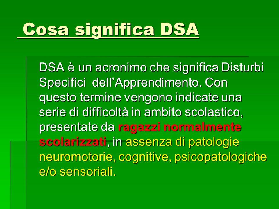 Cosa significa DSA
