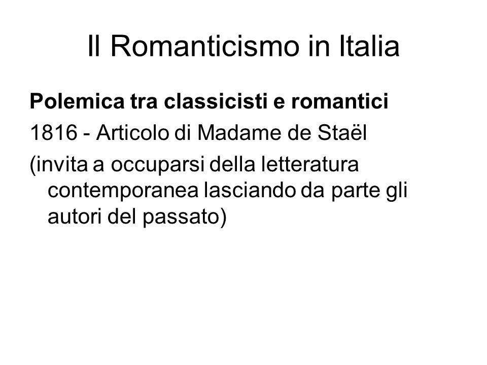 Il Romanticismo in Italia
