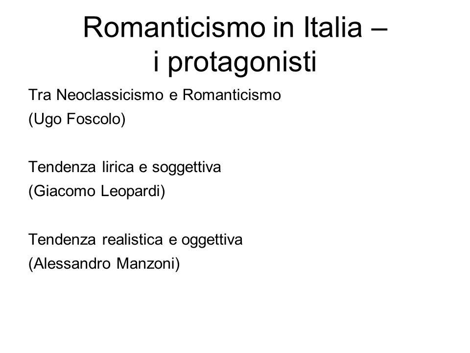 Romanticismo in Italia – i protagonisti