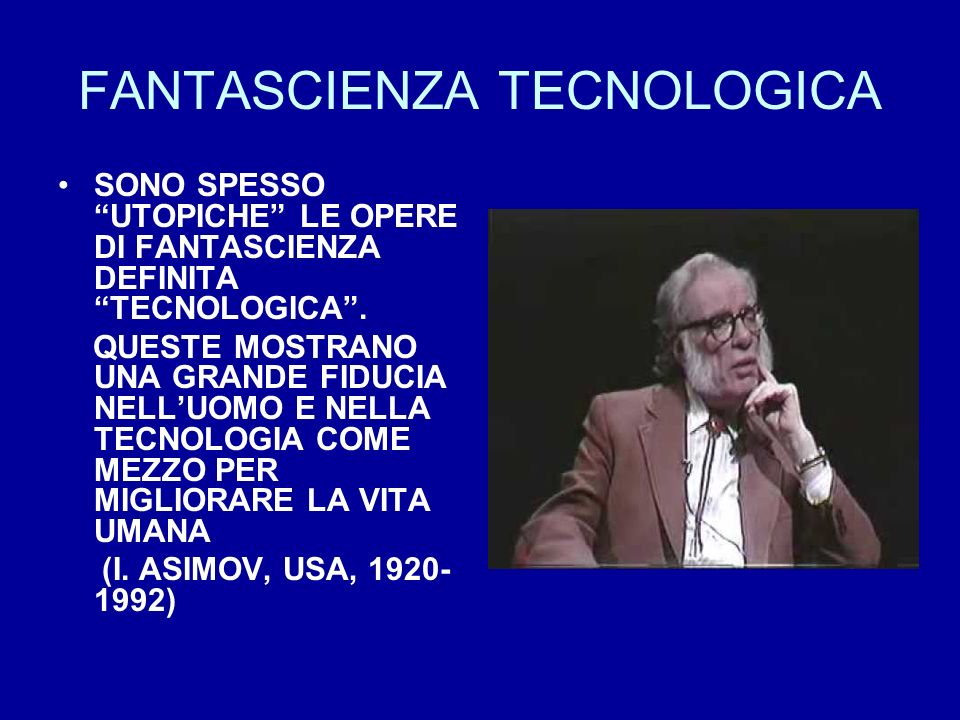 FANTASCIENZA TECNOLOGICA