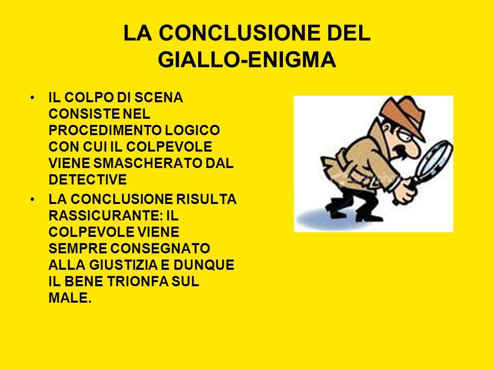 LA CONCLUSIONE DEL GIALLO-ENIGMA
