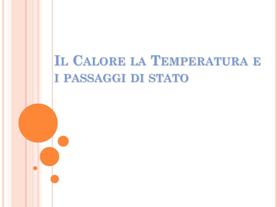 Il Calore la Temperatura e i passaggi di stato