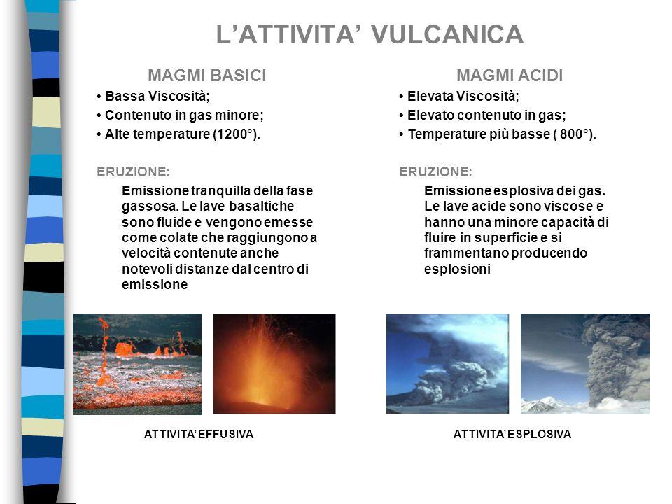 L'ATTIVITA' VULCANICA