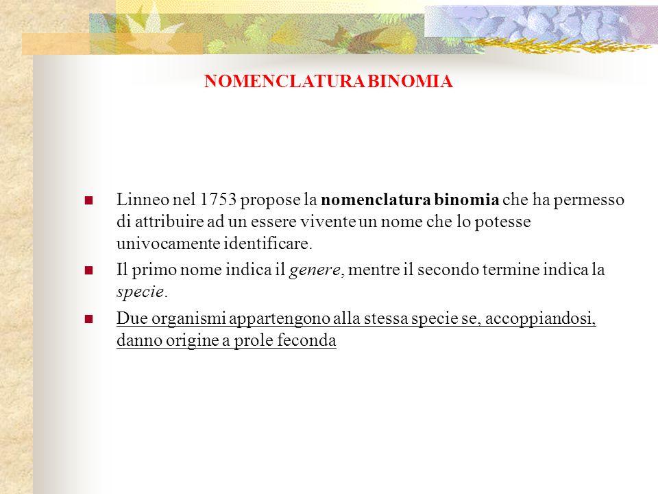NOMENCLATURA BINOMIA