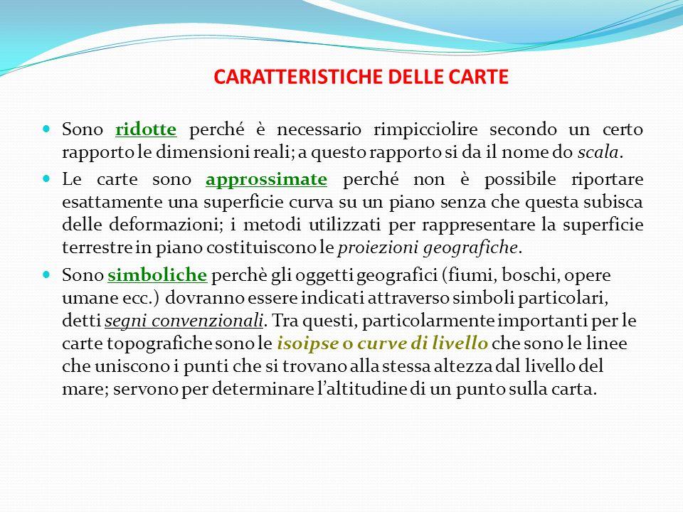 CARATTERISTICHE DELLE CARTE