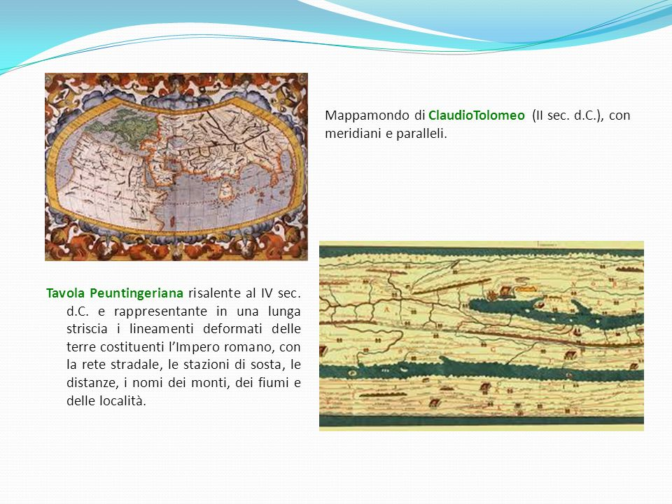 Mappamondo di ClaudioTolomeo (II sec. d. C