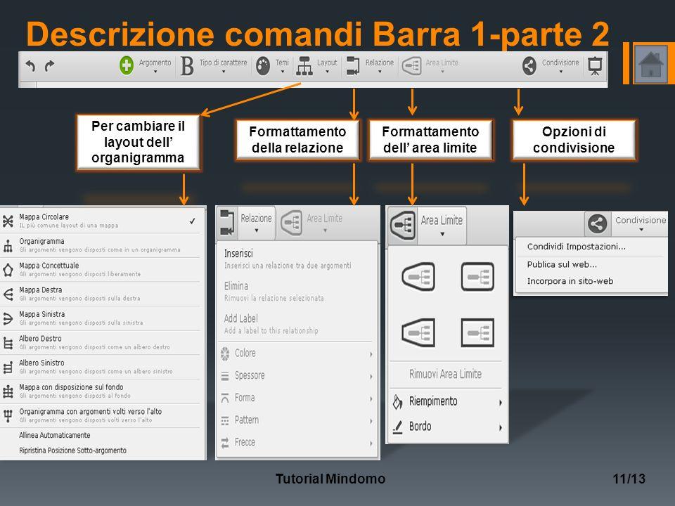 Descrizione comandi Barra 1-parte 2