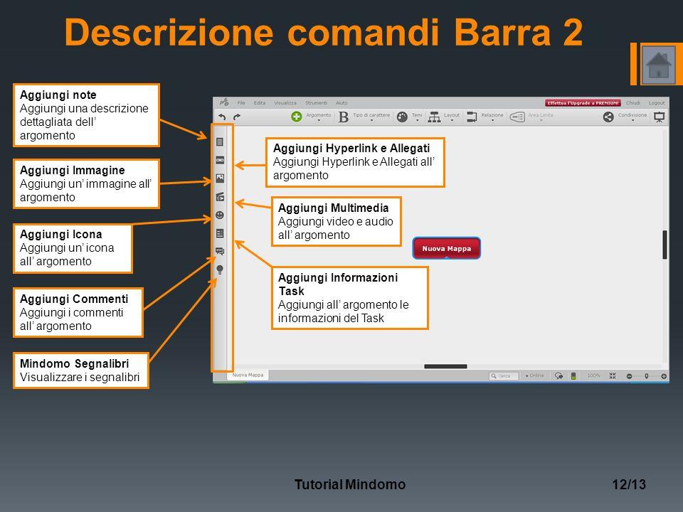 Descrizione comandi Barra 2