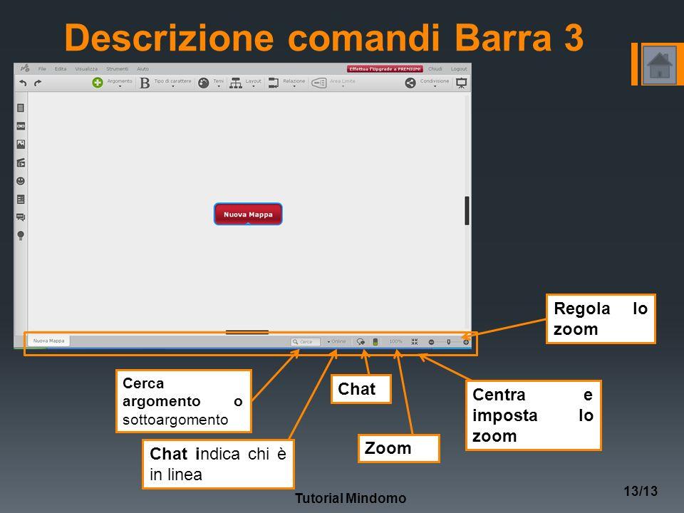 Descrizione comandi Barra 3