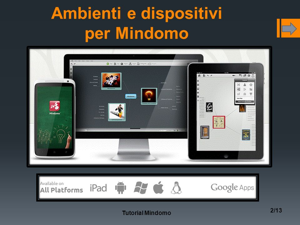 Ambienti e dispositivi per Mindomo