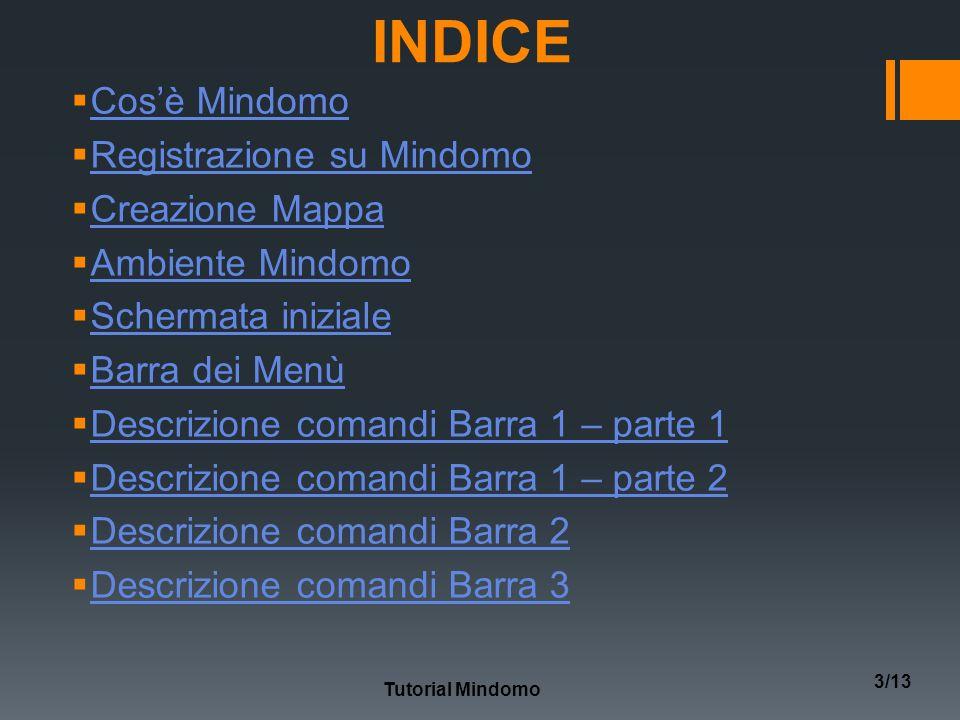 INDICE Cos'è Mindomo Registrazione su Mindomo Creazione Mappa