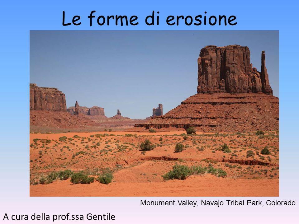 Le forme di erosione A cura della prof.ssa Gentile