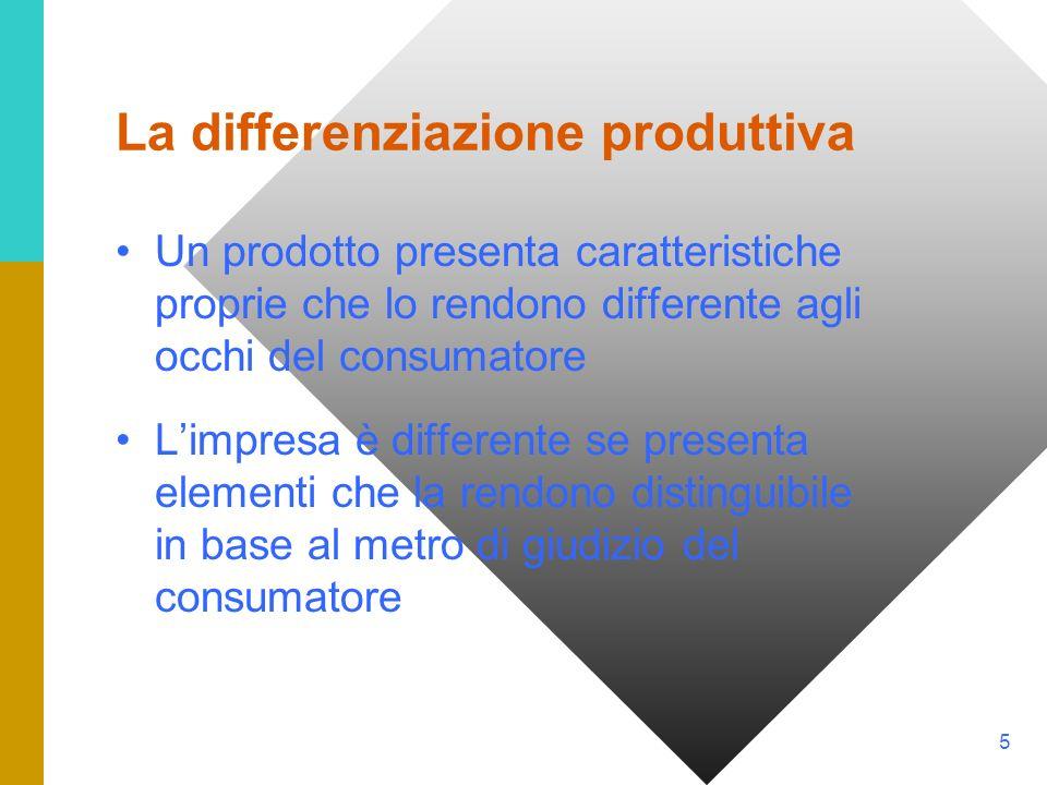 La differenziazione produttiva