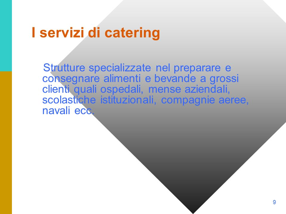 I servizi di catering