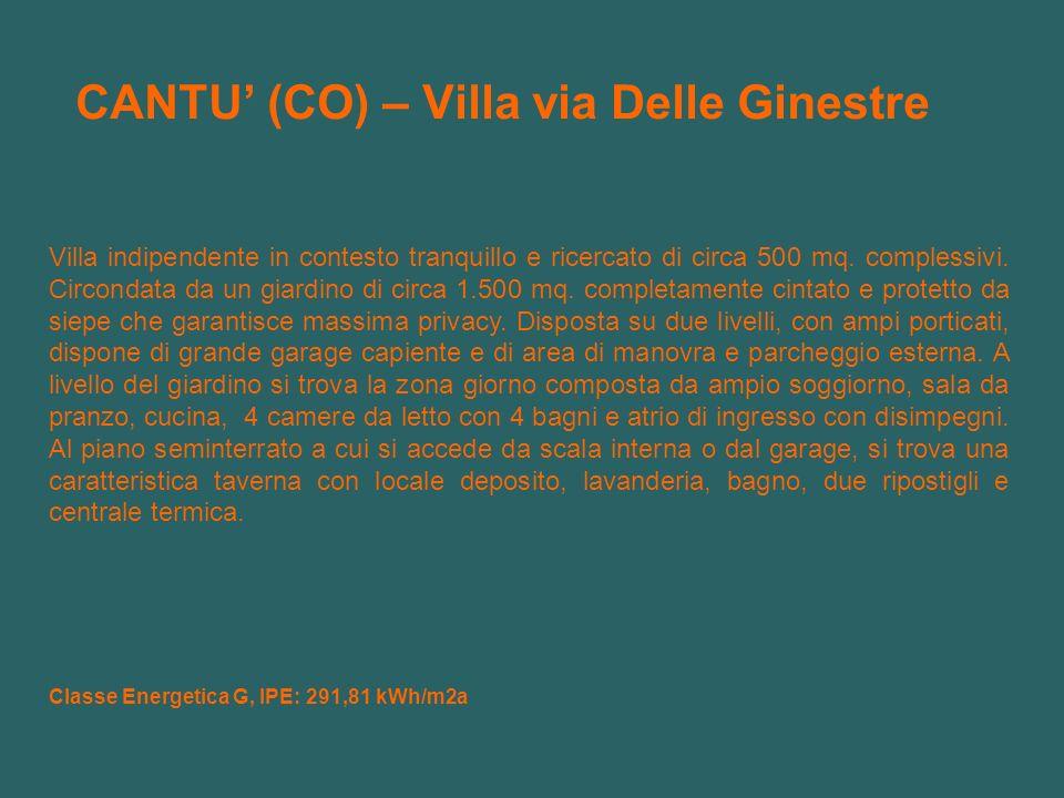 CANTU' (CO) – Villa via Delle Ginestre