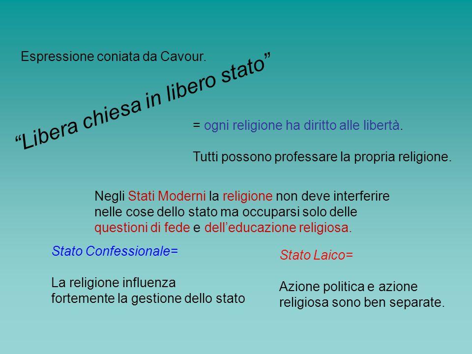 Libera chiesa in libero stato