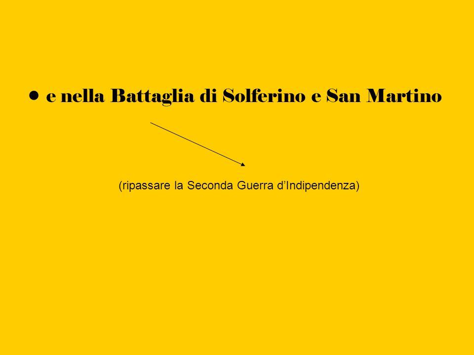 e nella Battaglia di Solferino e San Martino