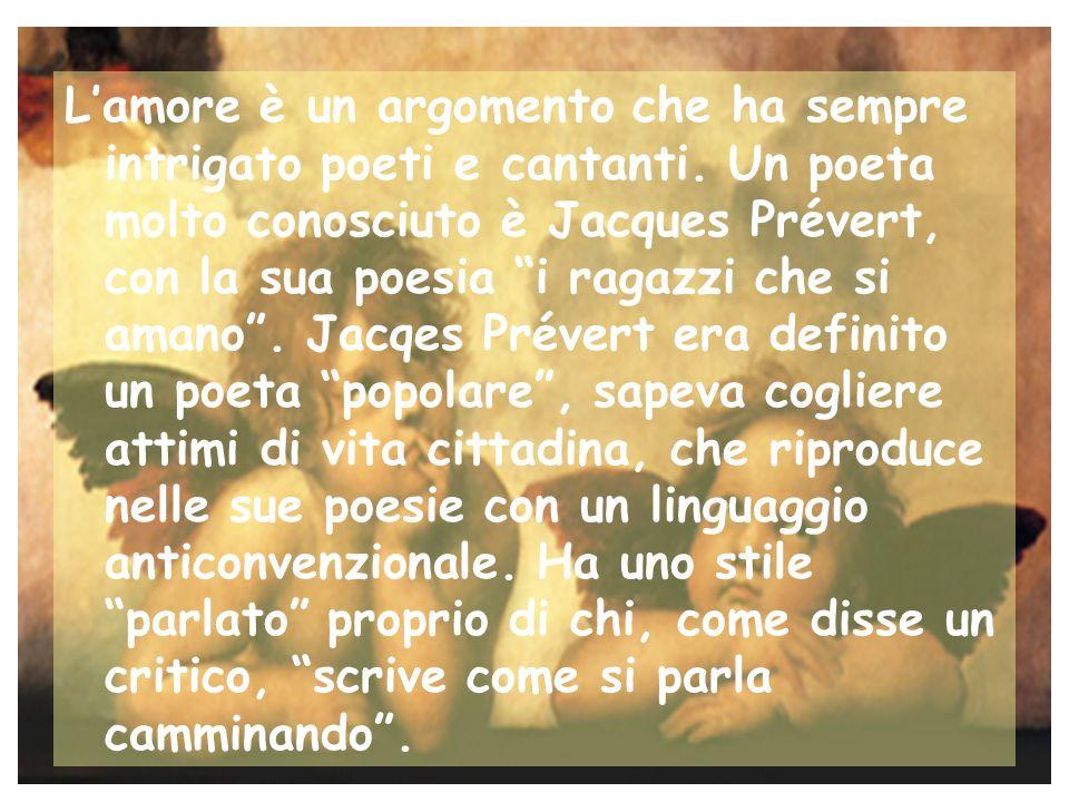L'amore è un argomento che ha sempre intrigato poeti e cantanti