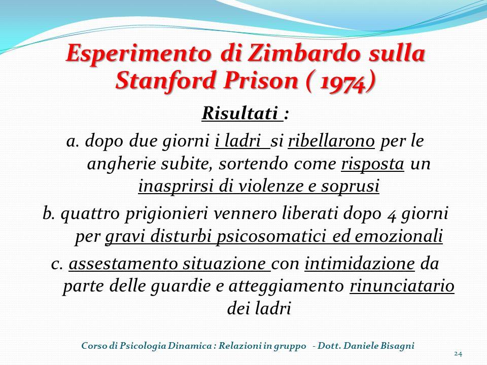 Esperimento di Zimbardo sulla Stanford Prison ( 1974)