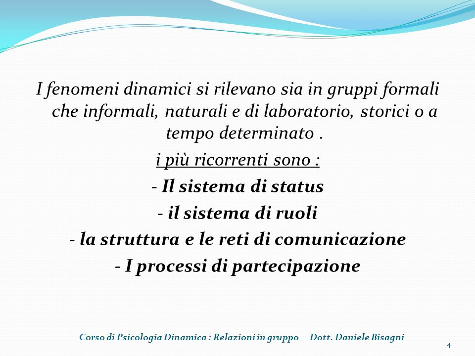 - la struttura e le reti di comunicazione