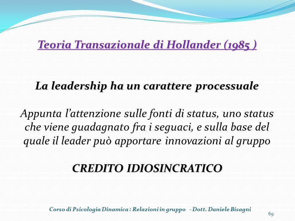 Teoria Transazionale di Hollander (1985 )