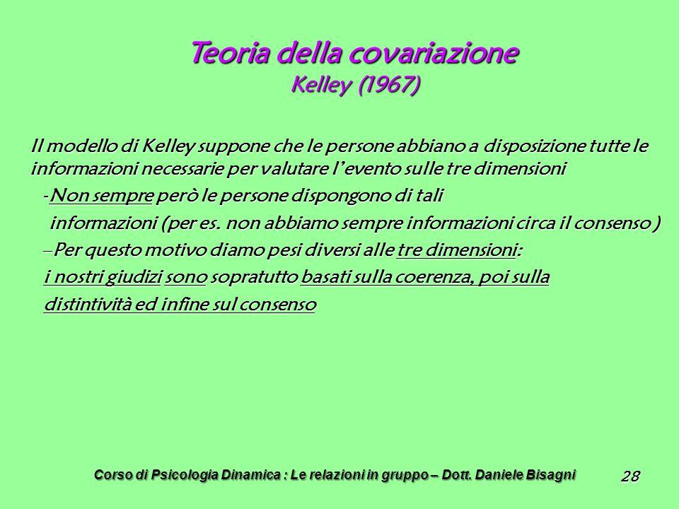 Teoria della covariazione Kelley (1967)