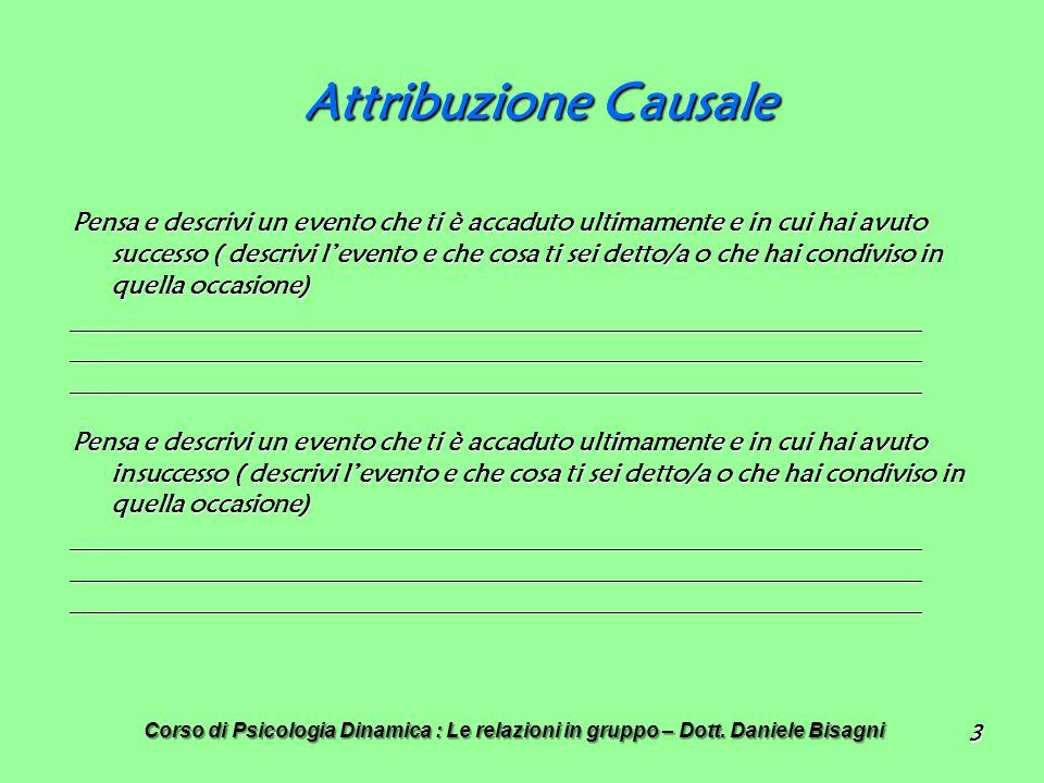 Attribuzione Causale