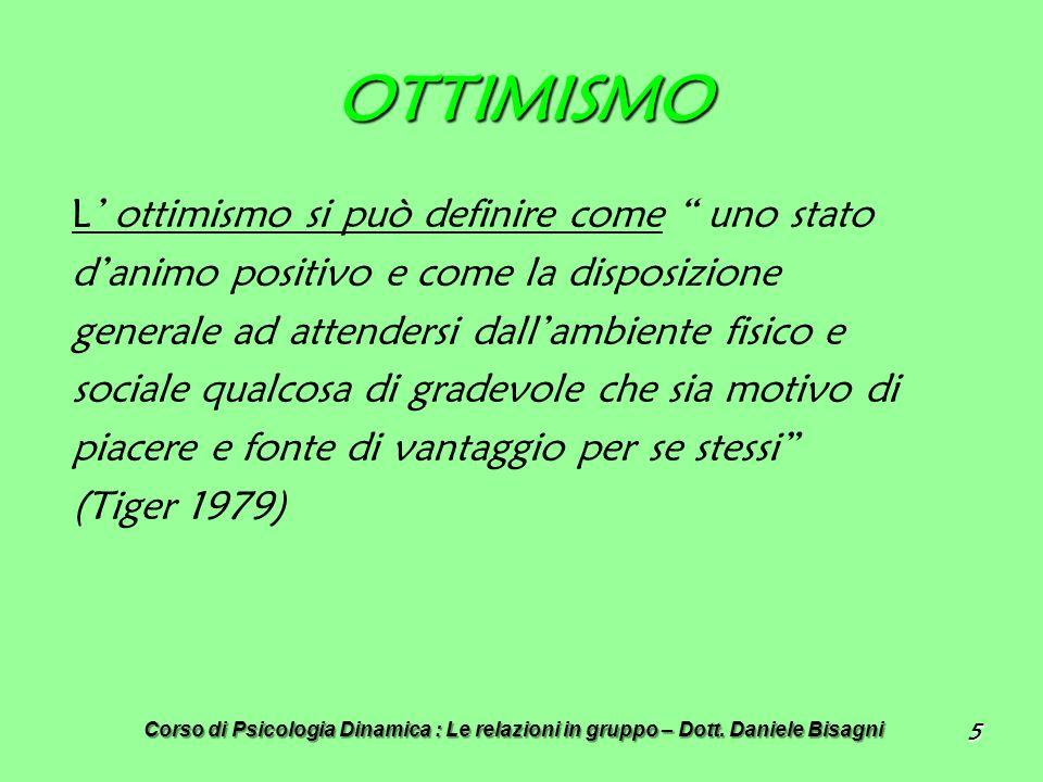 OTTIMISMO L' ottimismo si può definire come uno stato