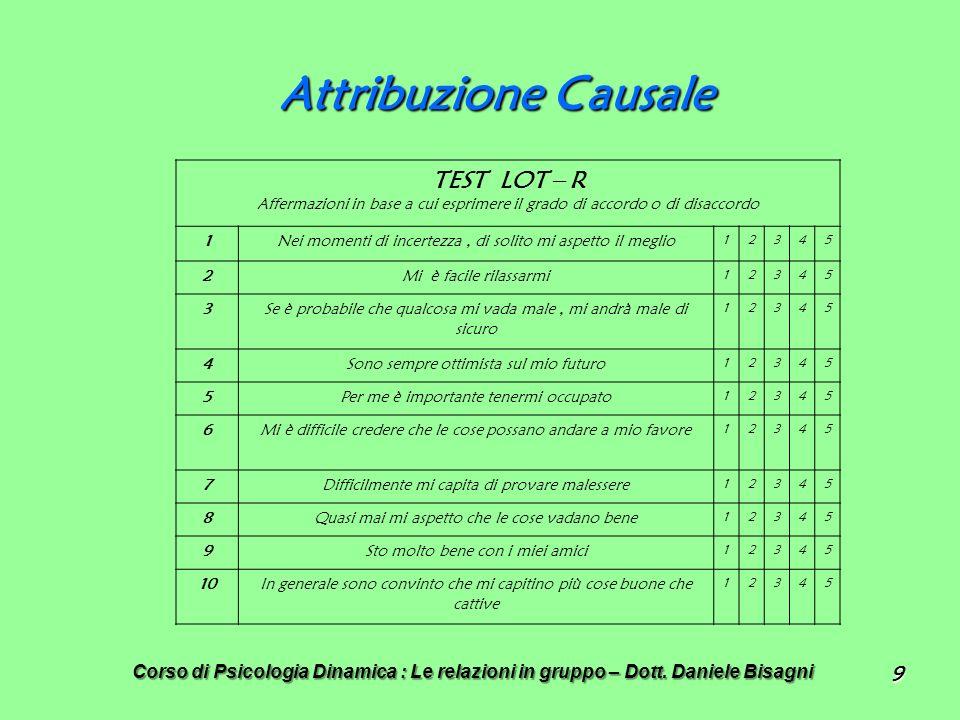 Attribuzione Causale TEST LOT – R